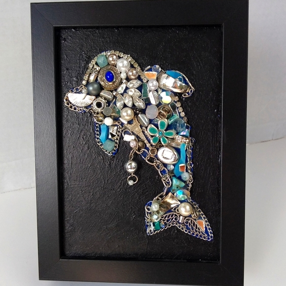 silver jewelry dolphin nautical handcrafted art
